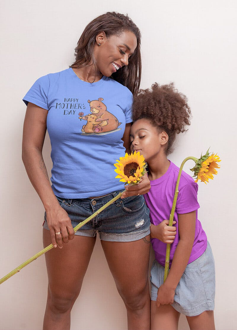 bear tshirt for mothers day