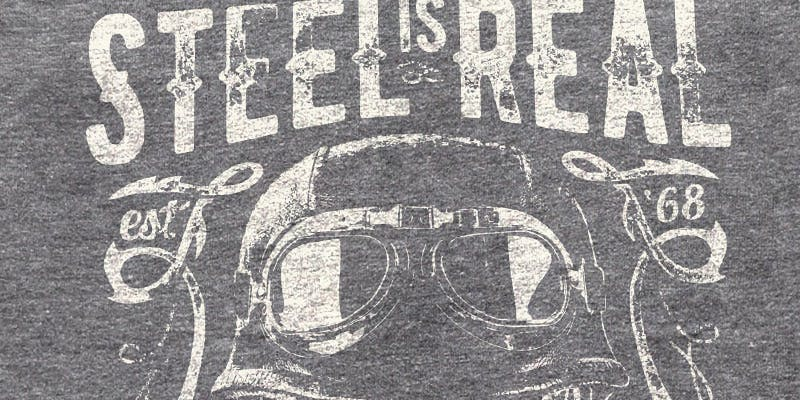 Discharge t shirt serigraph example