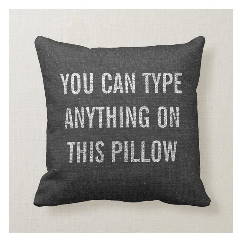 typo pillow