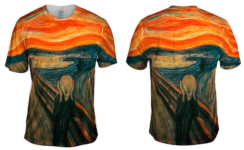 The Scream -Allover Print Mens Hoodie Yizzam- Edvard Munch 1895