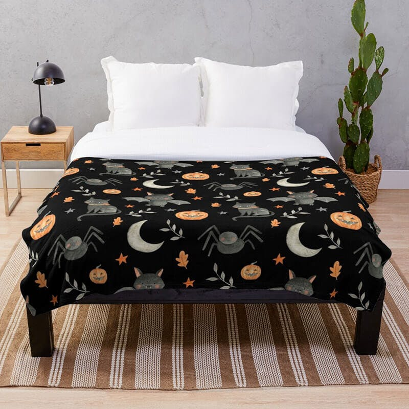 halloween bed sheets