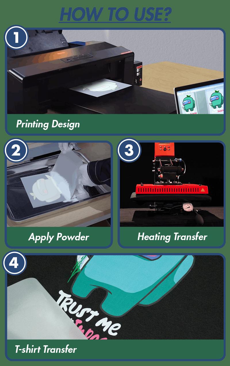 dtf printing steps