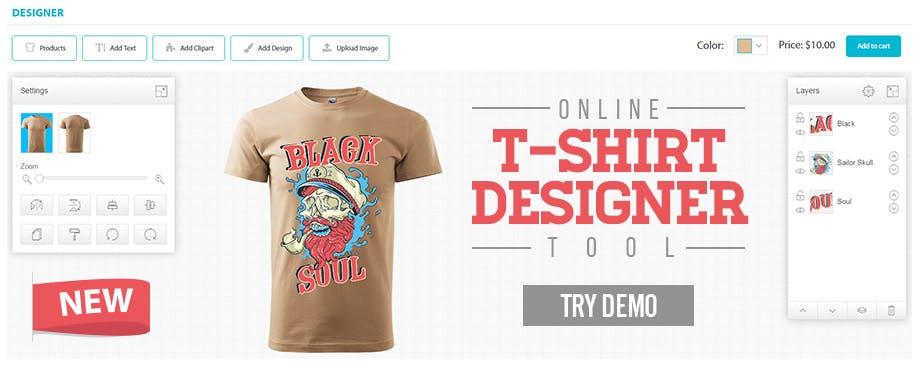online tshirt designing tool