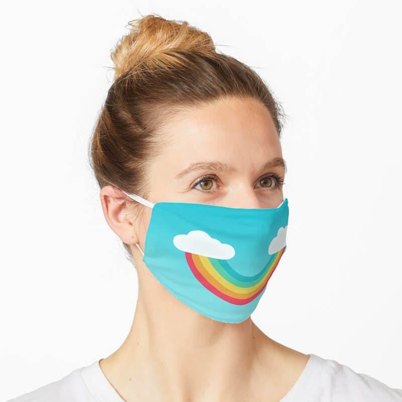 rainbow face mask by redbubble