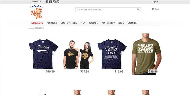 online tshirt store
