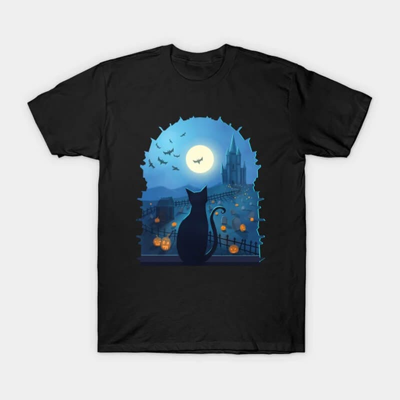 halloween cat tshirt