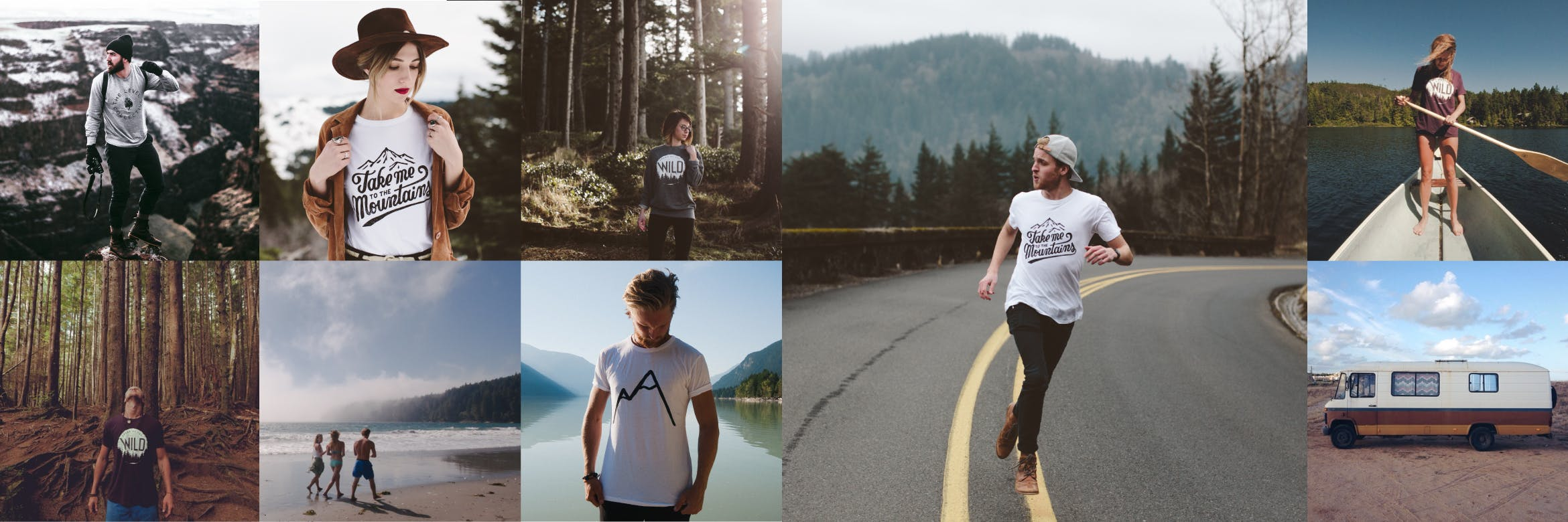 Minimalist t-shirt adventure collection