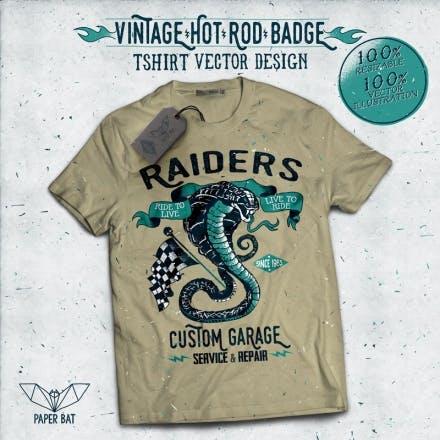Vintage-Hot-Rod-Badge-04-T-shirt-design-18845