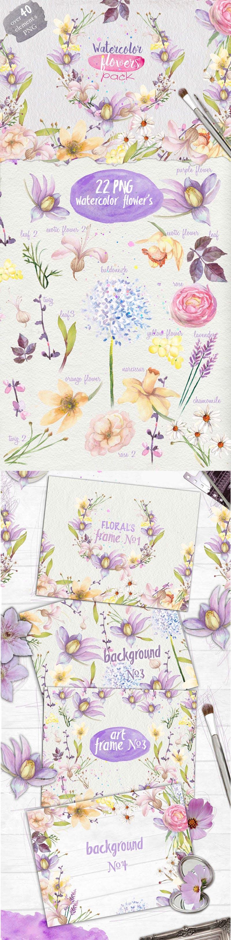 Watercolor-flowers-Pack