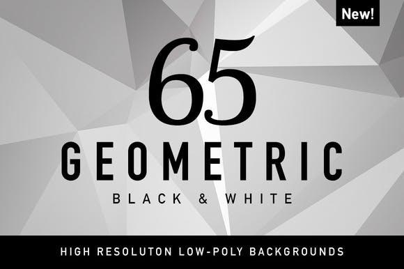 65 Geometric Black&White from CreativeMarket