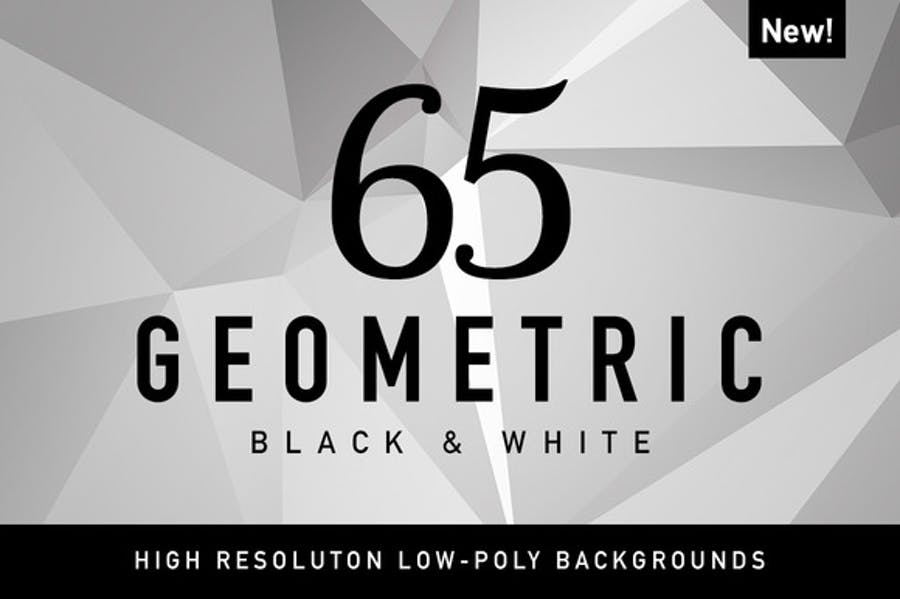 65 Geometric Black&White from CreativeMarket