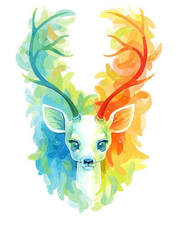 Feather Fawn Illustration