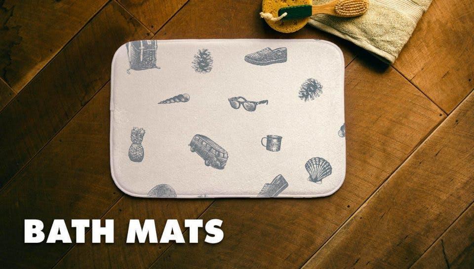 Threadless Bath Mats