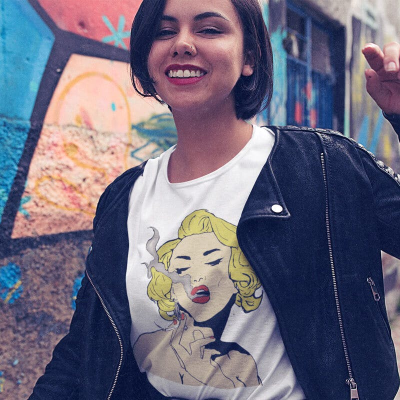 marylin monroe design Tee Public`s Hot Sale