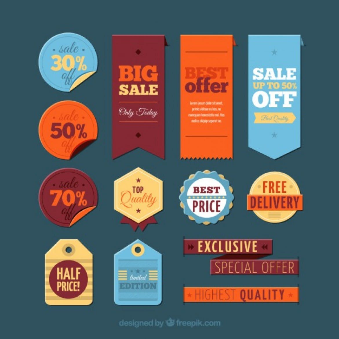 big sale tags
