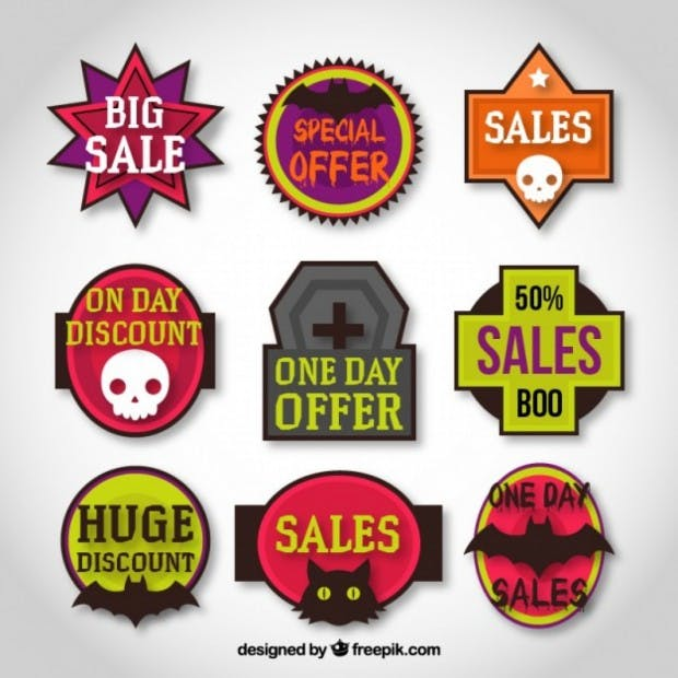 halloween sale tags